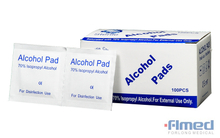 Mini Alcohol Swabs, 60 X 30mm, 70% Isopropyl Alcohol, 100 Packs Per Box