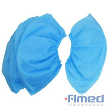 Blue Disposable Non-woven Non-slip Shoe Cover for Hospitals