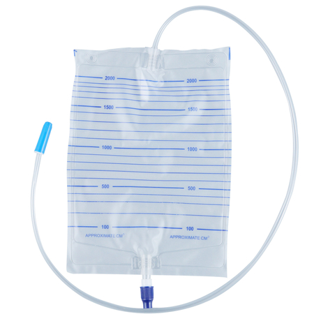 Economic Urine Bag 2000ml with Outlet Pull-push Valve